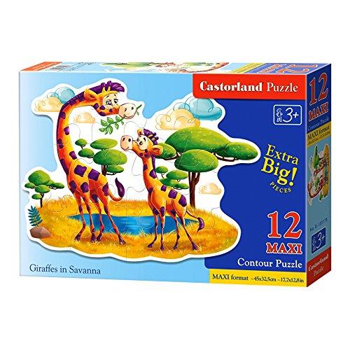 Castorland Maxi Puzzle Giraffes in Savanna 12 Pieces