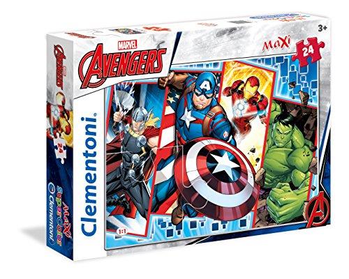 Clementoni 24495 Clementoni-24495-Supercolor Puzzle-The Avengers-24 Maxi Pieces Multi-Colour