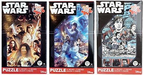 Star Wars 300 Piece Puzzle 3 Pack Set New Sealed Disney Darth Vader Luke Skywalker Yoda