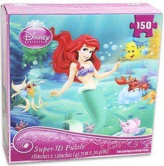 Disney Little Mermaid Ariel Super 3d Puzzle 150 Pieces