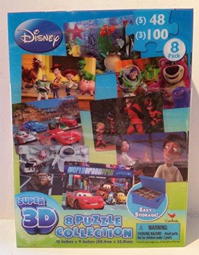 DisneyPixar Super 3D 8 Puzzle Collection