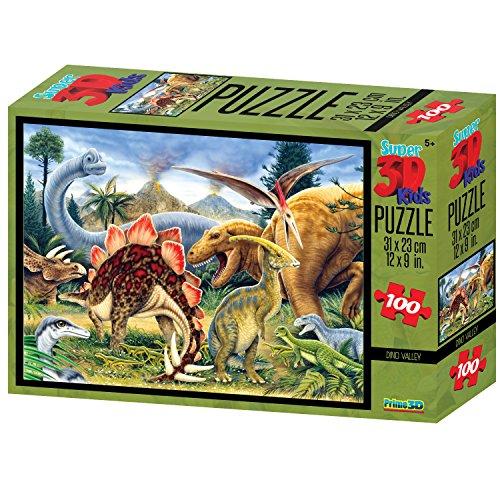 Howard Robinson Dino Valley Super 3d Puzzle 100-piece Multi-colour