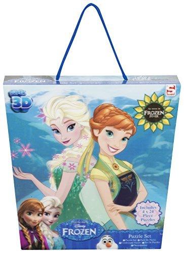 Sambro DFR-5596 Frozen Super 3D Puzzle Pack of 4 by Sambro