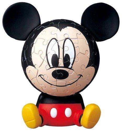 3D sphere puzzle Big Face Mini 60 Large Disney Mickey Mouse piece diameter of about 76cm japan import by The Yanoman