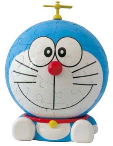 3D sphere puzzle Big face Doraemon 60 Doraemon Large piece diameter about 102cm japan import