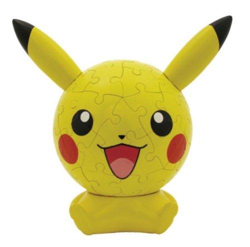 3D sphere puzzle face Big 60 Pokemon Pikachu Large piece diameter about 102cm japan import