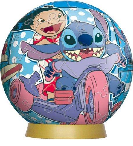 3d Sphere Puzzle 60 Piece Disney Comic-stitch Diameter About 76cm Japan Import by Yanoman