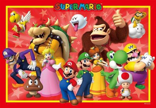 Picturesque brain puzzle step Step 3 series 85-piece Super Mario Super Mario large set 26-621 japan import