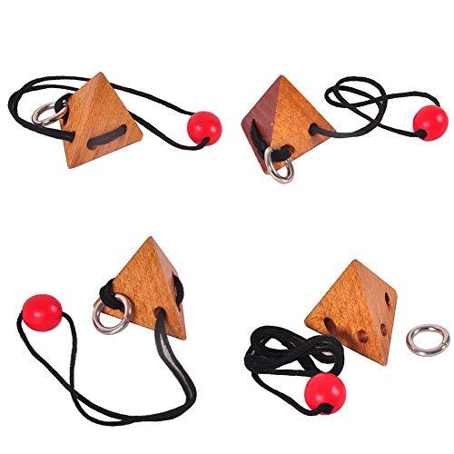 khkadiwb ToysRepair Tool Puzzles Magic Cubes 3D Rope String Wood Topology Adults Kids Brain Teaser Puzzle Educational Toys Non-Toxic Intelligent Development Gift