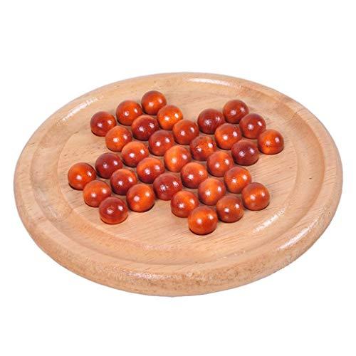 Kekailu Children Toys Classic Wooden Peg Puzzle Chessboard Kongming IQ Mind Brain Teaser Kids Toy