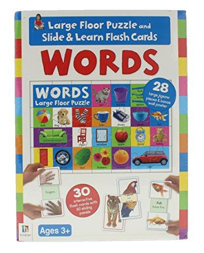 Hinkler Slide n Learn Words Flash Cards and Large Floor Puzzle