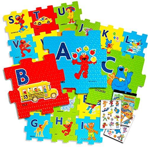 Sesame Street Giant Floor Puzzle for Kids - 3 Foot Foam Puzzle with Bonus Sesame Street Stickers Sesame Street ABC