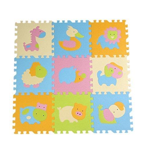 YueLian Baby Toddler Animals Foam Puzzle Floor Mat Play Mat Non Slip Exercise Protective Floor Mats