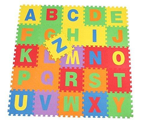 YueLian Kids Alphabet Print Foam Floor Puzzle Play Mats Exercise Floor Mats Playmat