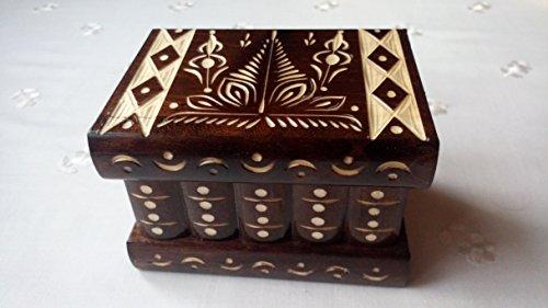New beautiful special handcarvedhandmade wooden puzzle boxsecret boxmagic boxjewelry boxbrain teaserstorage boxflower designe boxjigsaw puzzle