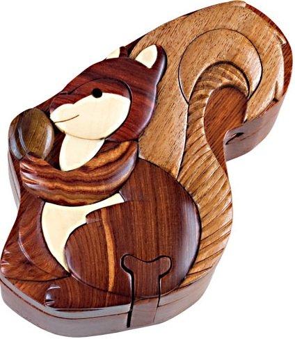 Squirrel Wooden Puzzle Box