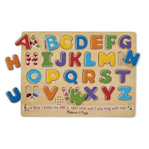 Melissa Doug Alphabet Sound Puzzle - Wooden  Puzzle With Sound Effects 26 pcs