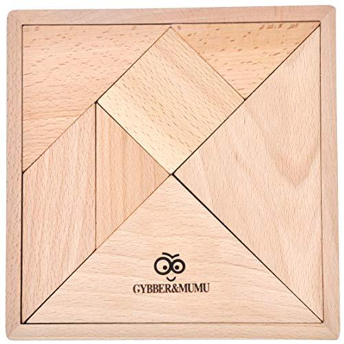 GYBBER&MUMU Wooden Jigsaw Development Tangram Jigsaw Puzzle Educational Toys for Kids