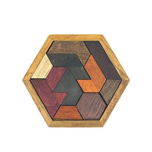 SHUYUE Kids Wooden Brain Training Geometry Tangram Puzzle Children Brain Teasers Child Intelligence Jigsaw Toy