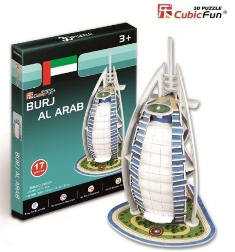 3d Puzzle Toy Cubicfun Paper Model Gift Jigsaw Game Mini Burj Al Arab