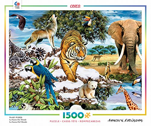 Ceaco Howard Robinson - Worlds Wildlife Puzzle 1500 Piece