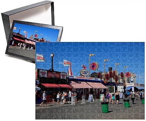 Photo Jigsaw Puzzle of Boardwalk Coney Island Brooklyn New York City United States of America