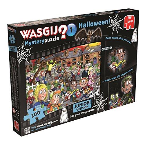 Jumbo Games Wasgij Mystery Junior Two Halloween Jigsaw Puzzle 100-piece