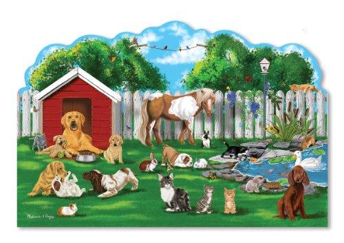 Melissa Doug Pet Party Jumbo Jigsaw Floor Puzzle 32 pcs 2 x 3 feet