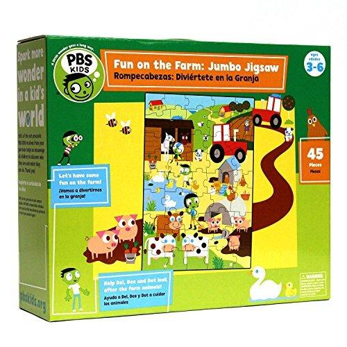 PBS Kids Fun on The Farm Jumbo Jigsaw Puzzle 45 Piece by PBS Kids