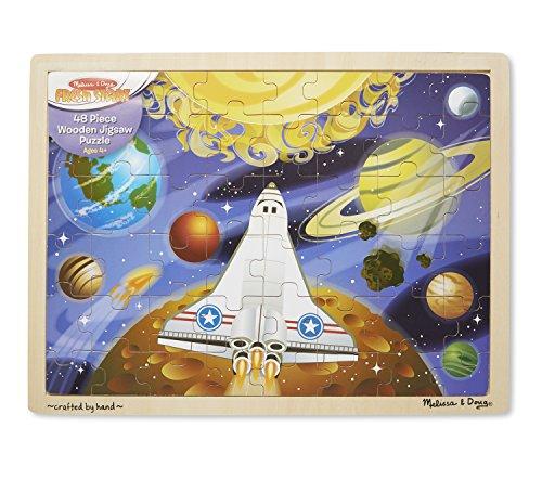 Melissa Doug Space Voyage Wooden Jigsaw Puzzle 48 pcs