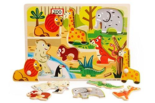 DD Zoo Wooden Knob Puzzle 8 pcs