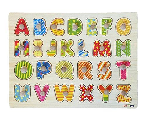Lil Toyz Alphabet Wooden Knob Puzzle