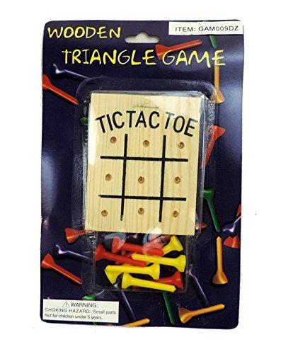 Classic Wooden Peg TIC TAC TOE Board Game