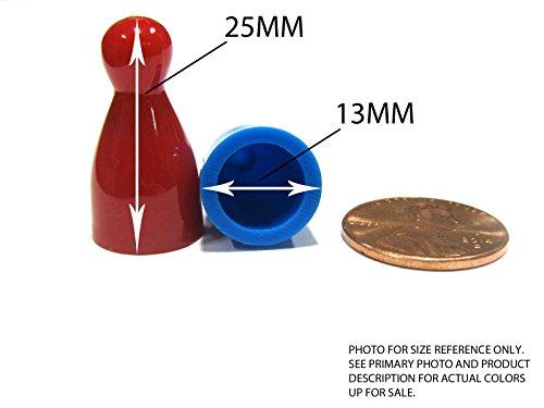 Set of 10 Halma 25mm Pawns Pawn Peg Pegs Board Game Play Pieces - Orange