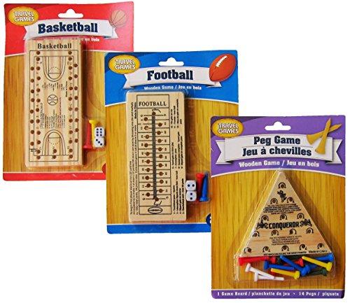 Wooden Peg Board Games Basketball Football The Peg Game