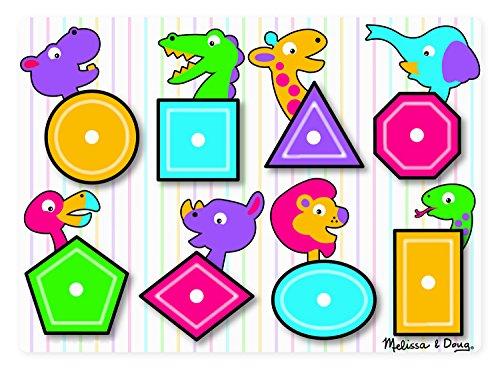 Melissa Doug 13285 Shapes Peg Puzzle