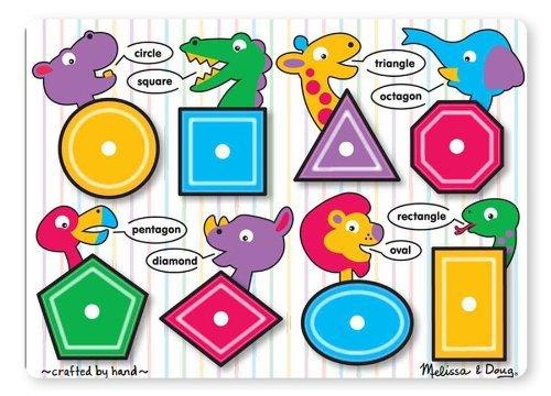 Melissa Doug Shapes Peg Puzzle by Toys Child