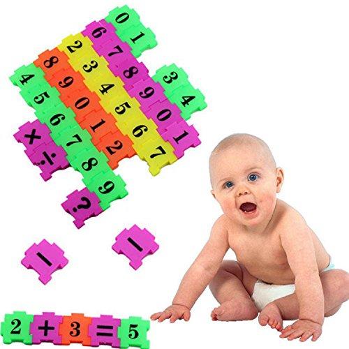Kemilove 36Pcs Baby Child Number Symbol Puzzle Foam Maths Educational Toy Gift