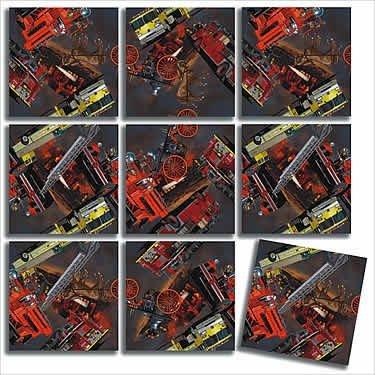 B Dazzle Firefighter Scramble Squares 9 Piece Puzzle