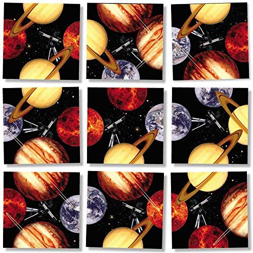 B Dazzle Planets Scramble Squares 9 Piece Puzzle