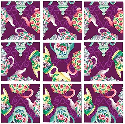 B Dazzle Teapots Scramble Squares 9 Piece Puzzle