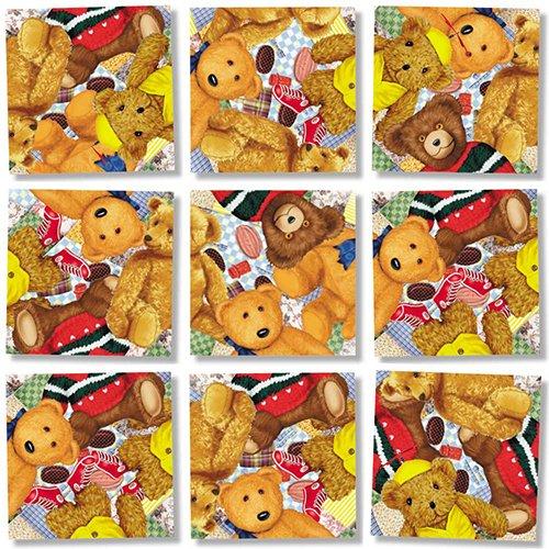 B Dazzle Teddy Bears Scramble Squares 9 Piece Puzzle