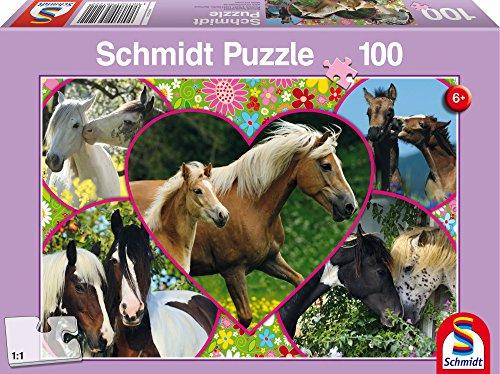 SCHMIDT Childrens Horses in Love Puzzle 100-Piece