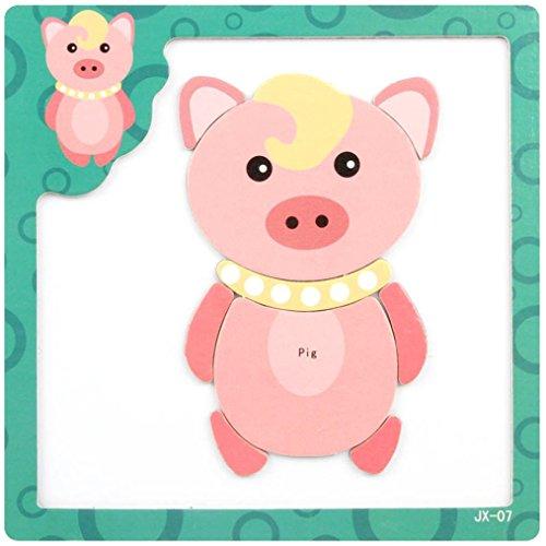 LandFox ToyWooden Magnetic Puzzle Educational Developmental Baby Kids Training Toy