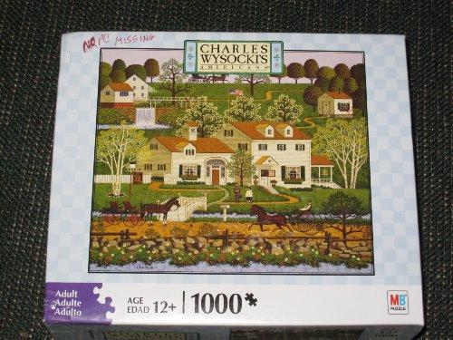 CHARLES WYSOCKIs AMERICANA PUZZLE Gingernut Valley 1000 Piece