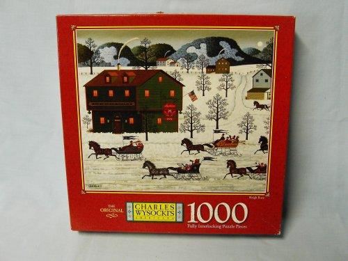 Charles Wysocki 1000 Piece Jigsaw Puzzle Titled Sleigh Race