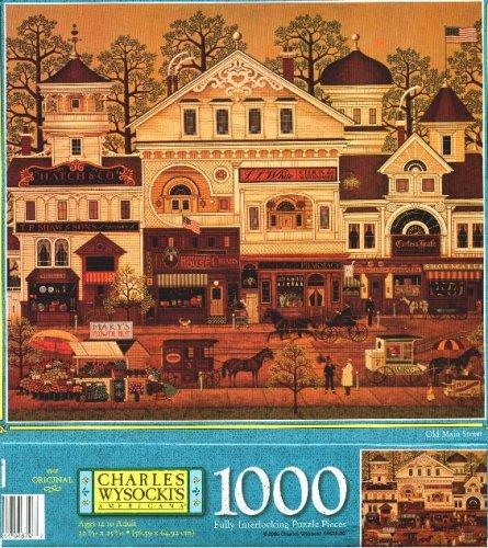 Charles Wysocki Americana 1000 Piece Puzzle - Old Main Street - 2000 Release