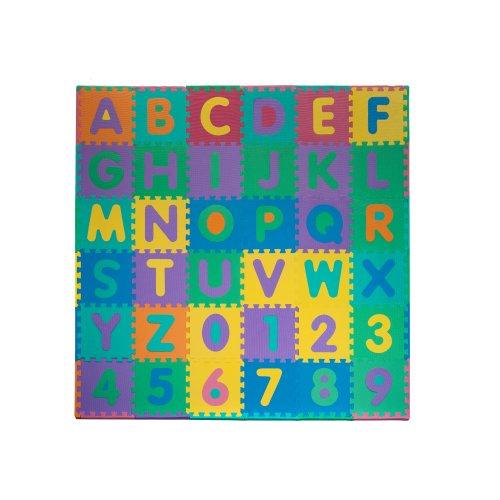 Childs Alphabet Number Puzzle Foam Play Mat - Large 96pc Set