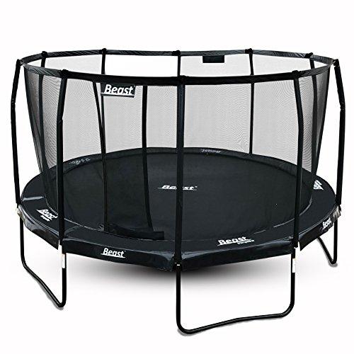 Beast Trampoline 14 ft Round Black with Premium Enclosure  Heavy Duty Trampoline  NO Weight Limit