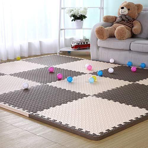 HOMRanger Solid Color Interlocking CarpetLarge Puzzle Exercise Kids Foam Crawling Play Mat Puzzle Rug for Living Room Tiles A 606025cm16 Pcs
